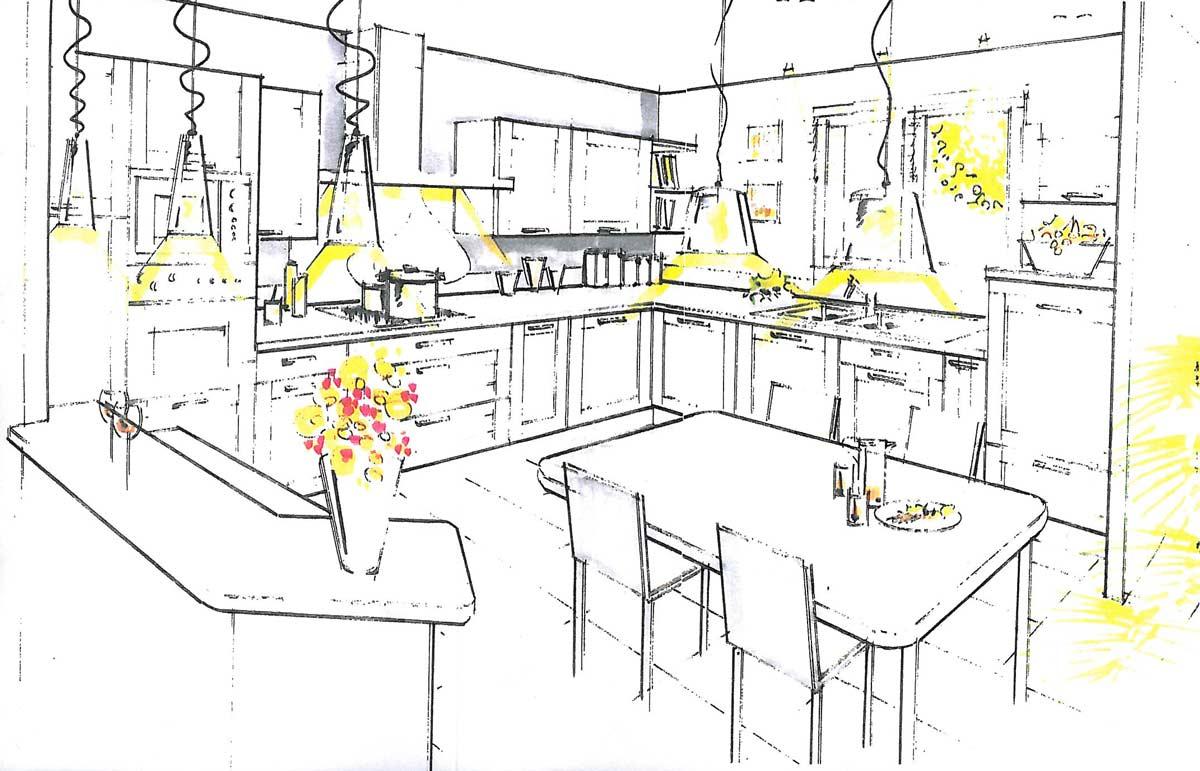 Fabrication sur mesure de meubles de cuisine chemill for Schema cuisine